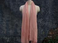 南山草木染原创自制女士进口真丝羊毛纯色秋冬款围巾