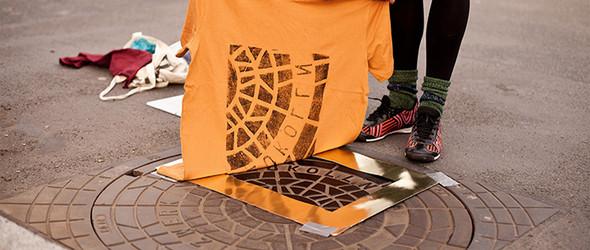从来不知道下水道井盖图案这么美——印在T恤或包包上简直美绝