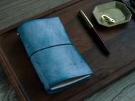 彩色系列植鞣革手工旅行者笔记本