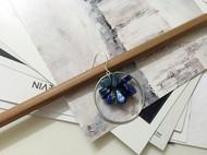 入口/ENTRANCE独立设计 天然青金石925银防过敏 手工耳环