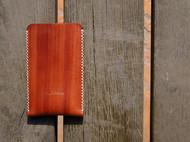 白馬手造 iphone5/5c/5s 保护套 手染赤茶色