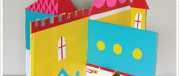 DIY可爱的瓦楞纸(纸箱)儿童城堡教程{附带图纸下载}