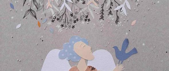 手绘、剪纸与布艺结合的女性拼贴画:Anya Popova