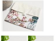 川朴艺术设计西湖美景植物艺术零钱包