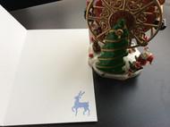 文艺青年系列 DIY手工贺卡特种纸 圣诞卡 深蓝色