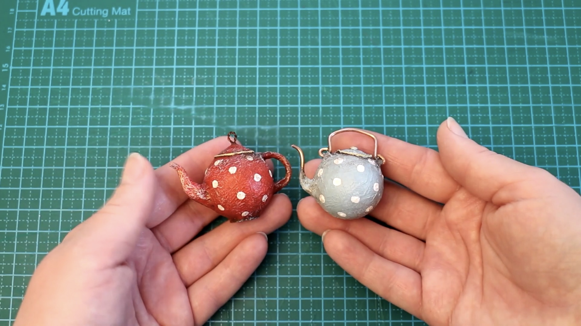 微缩模型DIY视频:迷你的茶壶制作过程