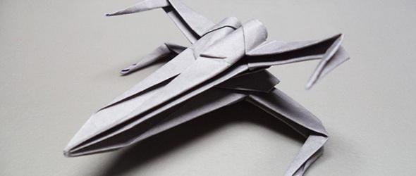 美国手工作者 Joe 分享的一则战斗机折纸教程