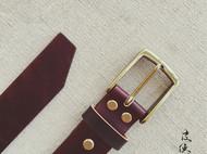 皮侠客PXK -手工精制棕色皮带 意大利植鞣 精选牛背皮 纯铜皮带扣