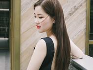 M.Q奎妮小姐 极简三角形天然紫色珍珠耳钉
