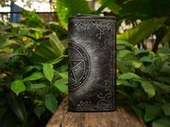 #【伽蓝手工】#希伯来风格:所罗门的爱情魔法阵 手工长款拉链皮钱包 [FS-QB232]