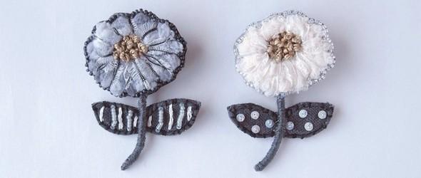素雅的刺绣配饰,来自日本手工艺人小林彩乃