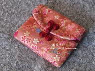 【囡囡手作】手工手缝布艺复古和风樱花蝴蝶盘扣短款钱包零钱包