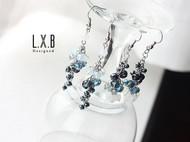 【LXB私人设计】渐变水晶耳环