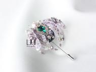 【LXB私人设计】法式钉珠刺绣昆虫胸针