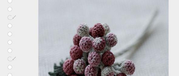 钩出花卉的千般姿态  | 日本艺术家竹村徇子(Jung-jung )清新淡雅的钩编花卉