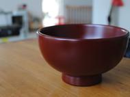 漆器 朱漆小碗 本朱汤碗