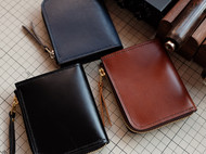 L型零钱包 纯手工制作 意大利植鞣和美国油蜡