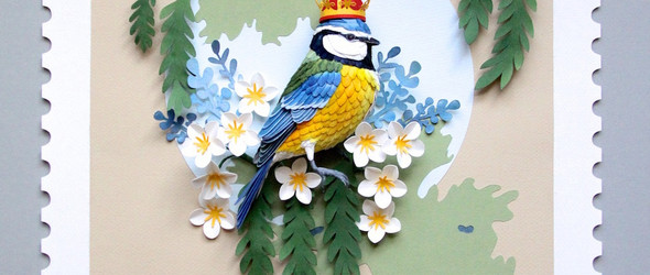 精美的纸雕飞鸟邮票 - 艺术家 Diana Beltran Herrera 的纸雕艺术