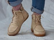 一年四季都舒适的工装鞋无胶透气纯手工缝线