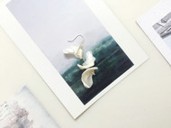 入口/ENTRANCE独立设计 天然马蹄螺925银防过敏 个性独特手工耳环