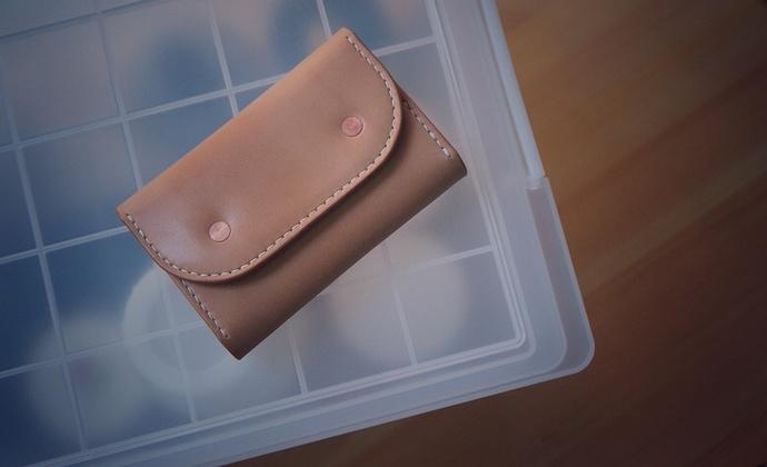 白馬手造 |手工制作皮具 钥匙包/钥匙扣 原色AA级枥木马鞍植鞣
