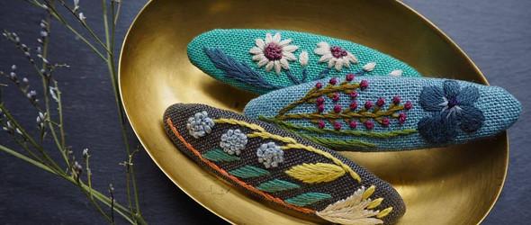 Alice Makabe   清新自然的开花植物刺绣