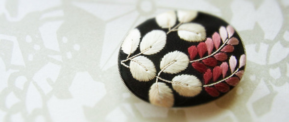 细腻,清新,雅致:日本刺绣艺术家Naoko Asaga(浅贺菜绪子)刺绣作品精选