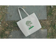安妮的树刺绣托特包