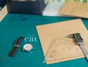 多图美洲鳄腹皮表带制作过程