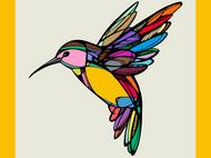 斑斓·飞鸟 原创设计艾草灰真丝围巾