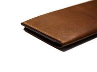 手工棕色植鞣牛皮钱包