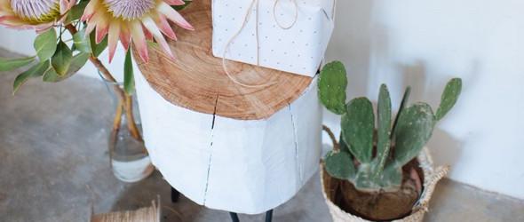 DIY树桩(原木)搁凳