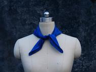 南山草木染原创自制植物蓝染纯棉纯色格子英伦时尚小方巾口袋巾