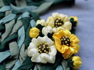 香草丽人-真丝艺术丝巾/项链-穿戴艺术-清新自然-森林系