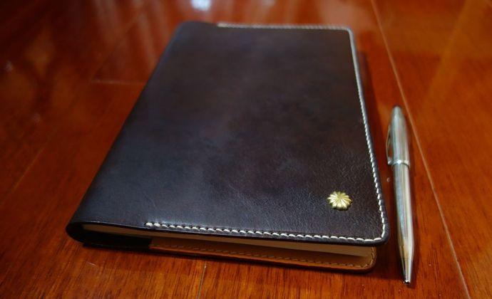 醉爱巧克力---棕色意大利透染A5手工笔记本(庄生作品)