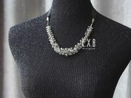 【LXB私人设计】剔透灰色水晶系带项链,定制非现货