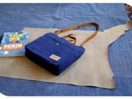 藏蓝帆布包