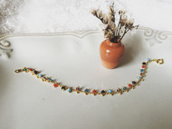 Venus&Felice 聖誕小花燈單鍊款-彩珠銅製手鍊