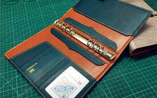 一款商务活页本套的制作笔记