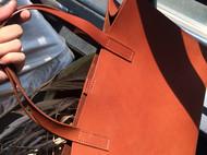 茶色植鞣革托特包