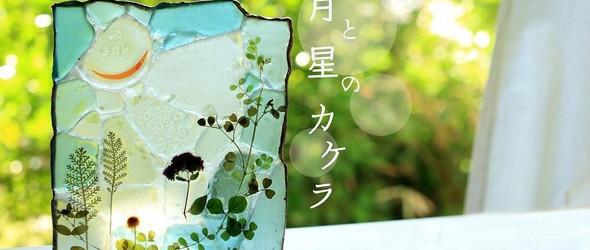 海玻璃与押花的奇妙组合,日本手艺人@yae.ohgane作品欣赏