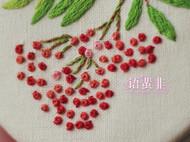 挂饰刺绣小镜子——浆果