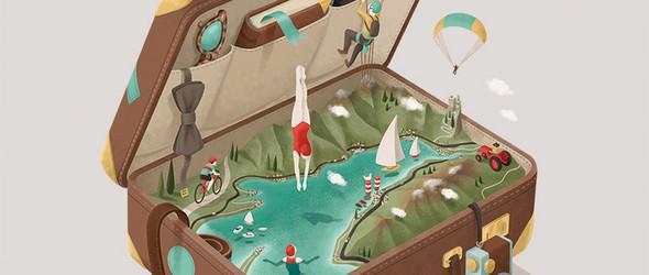 将生活片段融汇到生活道具之中:意大利插画师 Andrea De Santis 的清新插画小品