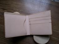 手工皮雕财布短夹