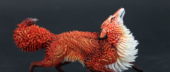 一只超轻粘土狐狸雕塑的诞生 | 俄罗斯艺术家 Evgeny Hontor 分享粘土雕塑创作过程