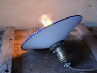 老搪瓷罩吊灯 老工业灯