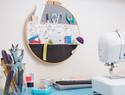 用绣绷做一个有工作室气质的收纳袋