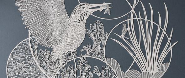 对于纸雕而言,耐心是最大的美德:英国艺术家 Pippa Dyrlaga 复杂而迷人的纸雕欣赏