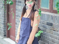 原创手工灯芯绒背带裙