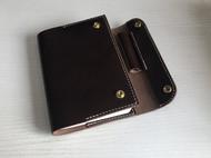 牛皮A6替换内芯真皮皮套硬挺可插笔植鞣牛皮笔记本咖啡色植鞣革手账